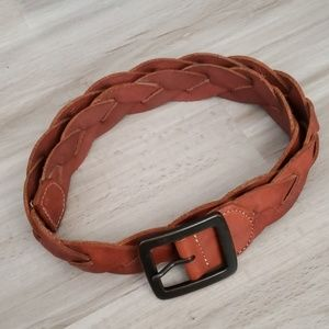 Lucky Brand Distressed Braided Leather Belt N1